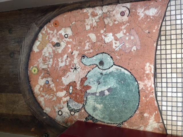 entrance mosaic picture