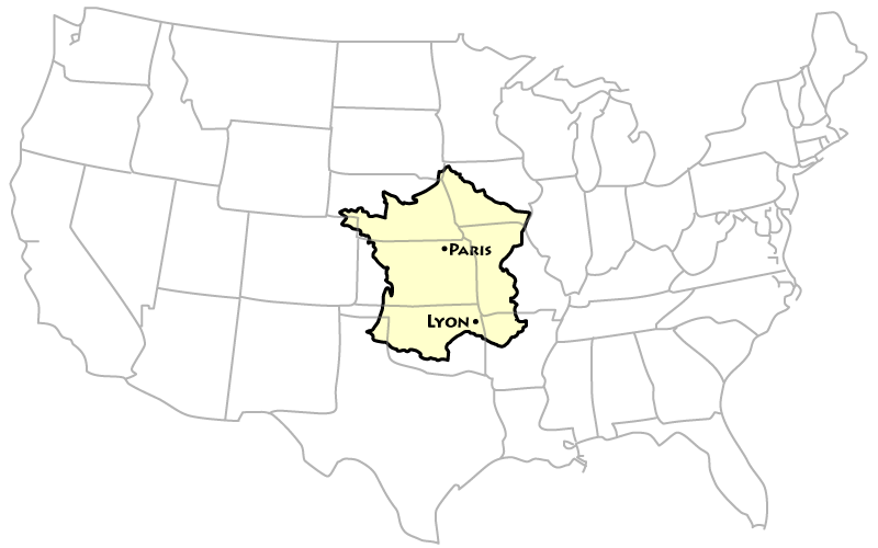How Big Is France Compared to the US? | Wandering France
