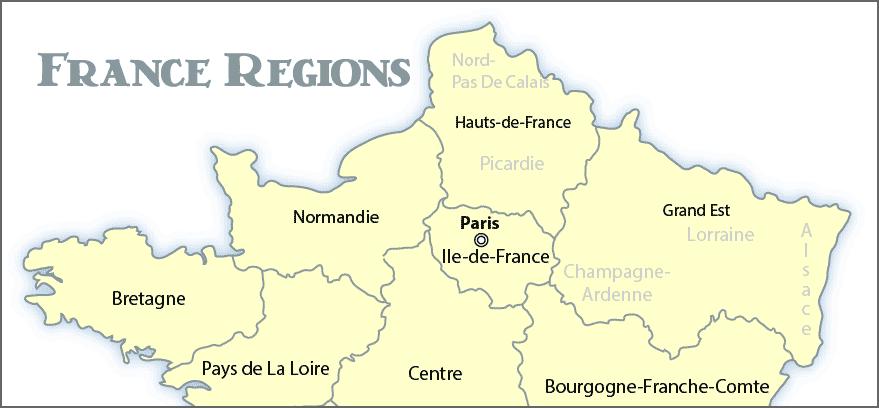 France Regions Map | Wandering France
