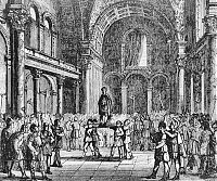 Emperor Julian the Apostate crowned in Paris at the baths of Cluny